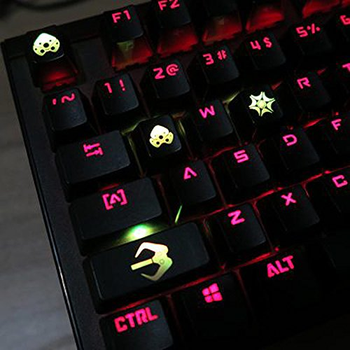 Widow Pegs - All Decor Overwatch Theme Keycaps Hand-Engraved Resin Translucidus Backlit Key caps for Mechanical Keyboards (cherry switches) With Gift Case - Widowmaker
