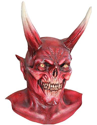 Mask Head & Neck Devil Red (Scream Queens Red Devil Mask For Sale)