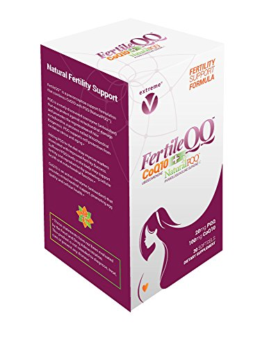 FertileQQ - BOOST your Fertility - Get Pregnant NOW - CoQ10 plus PQQ (Pyrroloquinoline Quinone) - 100mg of CoQ10 plus Natural PQQ 20mg