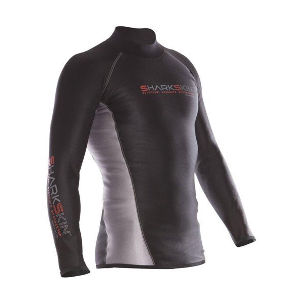 Sharkskin Men's Chillproof Long Sleeve Shirt Wetsuit, Black, XX-Large by Sharkskin