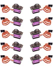 VIPMOON 10Pcs MG90S Metal Geared Micro Servo Motor 9G for Helicopter Airplane Boat Smart Robot Car Controls