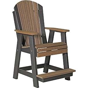LuxCraft Recycled Plastic Adirondack Balcony Chair