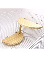 Niteangel 2-Level Wooden Platform for Chinchilla, Hamster and Other Small Animals