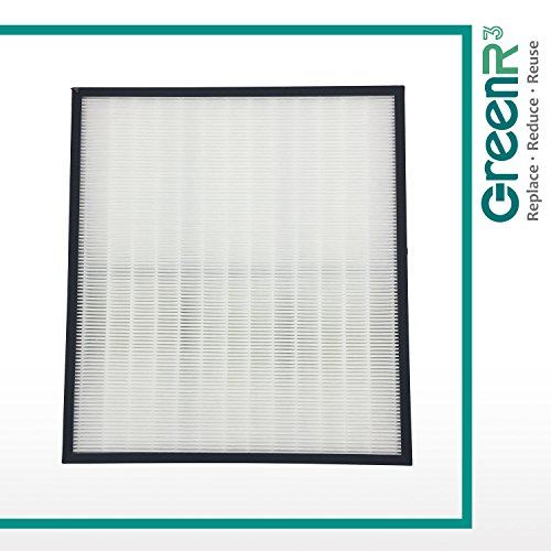 GreenR3 1-PACK HEPA Air Filters Air Purifiers for Hunter 30940 fits 30210 30214 30215 30216 30225 30244 30245 30260 30398 30400 30401 30402 30525 36260 36395 37225 Replacement Parts and more - Hunter Hepa Air Purifiers