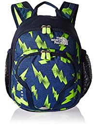 The North Face Youth Sprout Backpack - lightening bolt/safety green, one size