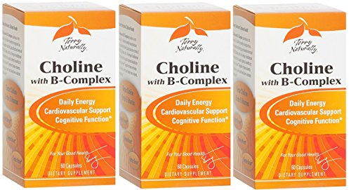 Europharma/Terry Naturally Choline with B-Complex, 60 Capsules 3 Pack by Terry Naturally