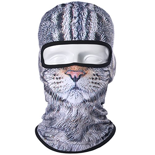 WTACTFUL Animal Balaclava Face Mask Breathable Wind Dust UV Helmet Liner Protection Skiing Snowboard Snowmobile Cycling Motorcycle Driving Riding Biking Fishing Hunting Music Festival Halloween - Face Mobile