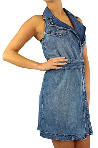 Diesel DE Agape Sleeveless Dresses Blue/Denim (M) ()