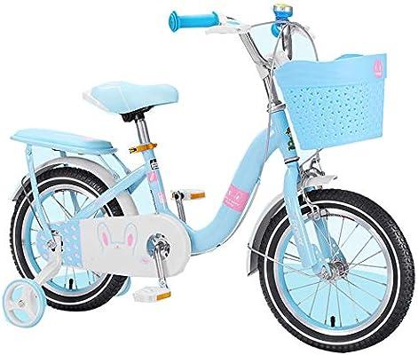 YUMEIGE Bicicletas Bicicleta para niña Tubo Engrosado con Ruedas ...
