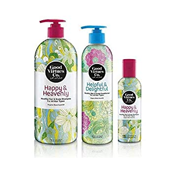 Good Virtues Co  Black Seed Oil Shampoo & Hair Conditioner Set (23 7 oz &  10 1 oz) -Hair Loss