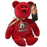 Ty San Francisco 49ers NFL Beanie Baby Teddy Bear Plush 8.5'