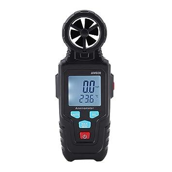 mootea MESTEK AM600 Anemómetro Digital LCD Medidor de Velocidad del Viento Medidor Termómetro con retroiluminación: Amazon.es: Electrónica