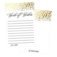Why should you order your own words of wisdom cards?       · Durable - Printed on Premium Cardstock   · Easy to write on   · One of a kind design   · Generous 4 x 6 size allows plenty of room for guests to leave a message   · Designed and Made in t...