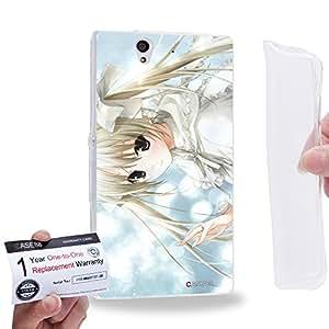 Case88 [Sony Xperia Z] Gel TPU Carcasa/Funda & Tarjeta de garantía - Yosuga no Sora Sora Kasugano Haruka Kasugano 1457
