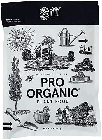 PRO Organic All Purpose Fertilizer by Shin Nong, 100% Organic, OMRI Listed, 3lb