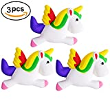 3 Pcs Unicorn Squishy Animal Slow Rising Stress Relief Toy for Kids Adults