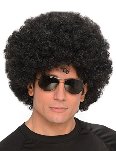 Funky Fresh Big Black Afro Party Wig for Men & Women | Unisex Synthetic Hair