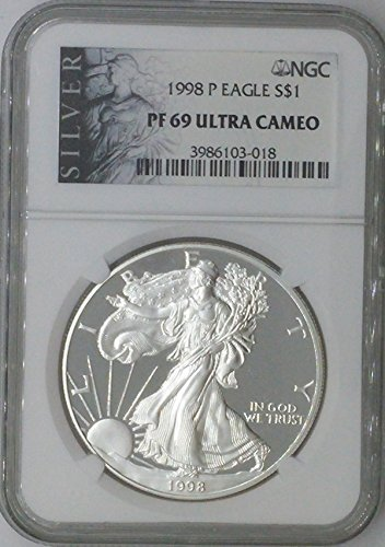 1998 P American Eagle $1 PF69 NGC PF