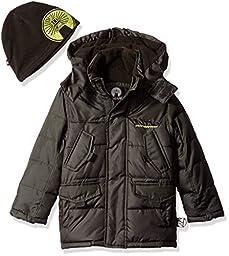 Weatherproof Big Boys\' Bubble Jacket, Black, 14/16