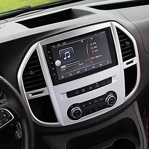 Vito W447 2014-2018 Noblik Car Styling 1PCS ABS Matte Interior Console Air Vent Outlet Trim Navigation Cover Trim for Mercedes