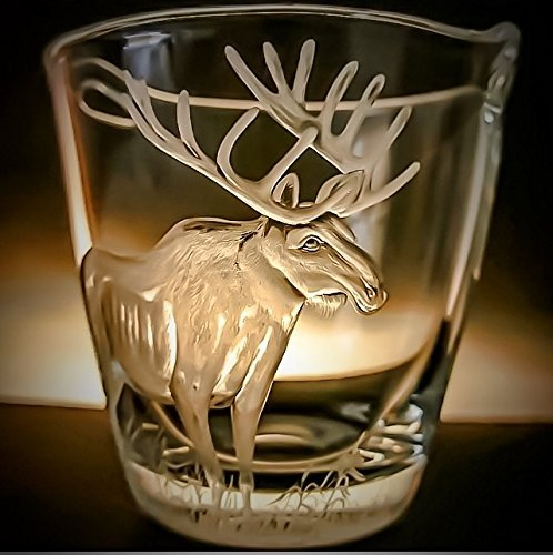 Barware Champagne - Hand Engraved Ice Bucket Moose Elk, Engraved champagne bucket, Mancave gifts, Engraved Barware, Groomsmens gifts, Wedding Gifts