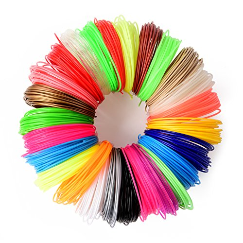 26 pc 3D Printer Pen Filament Refill | 1.75mm PLA Filament (NOT ABS) | 520 Linear Feet | 26 Different Colors, 6 Glow In The Dark Designer Fun Pack | - Fashion Wiki Designers