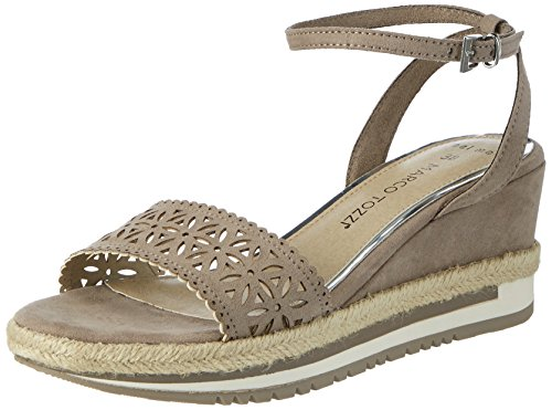 Beige Marco Bout Taupe Sandales Femme Tozzi Ouvert 341 28740 Yq4ZY