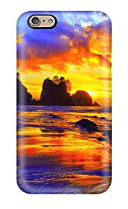 8768470K62419669 New Premium Flip Case Cover Beach Sunset Skin Case For Iphone 6