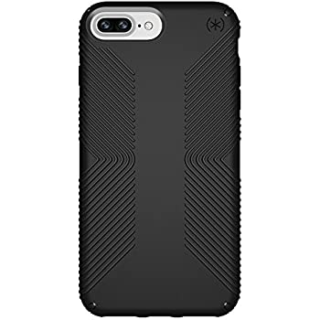 the latest ee4b1 e8955 Speck Products Presidio Grip Case for iPhone 8 Plus (Also fits 7 Plus and  6S Plus/6 Plus), Black/Black