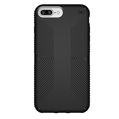 Speck Products Presidio Grip Case for iPhone 8 Plus (Also fits 7 Plus and 6S Plus/6 Plus), Black/Black from Speck