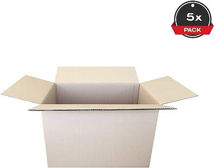 Cajeando   Pack de (5x) Cajas de Cartón de Canal Doble   Tamaño 60 x 40 x 40 cm   Color Marrón   Mudanzas   Cajas Grandes de Almacenaje   Fabricadas en España: Amazon.es: Oficina y papelería
