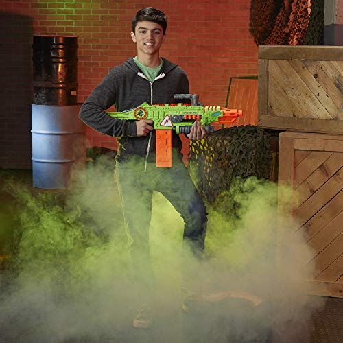 51rpY66ykrL - NERF Revoltinator Zombie Strike Toy Blaster with Motorized Lights Sounds & 18 Official Darts for Kids, Teens, & Adults