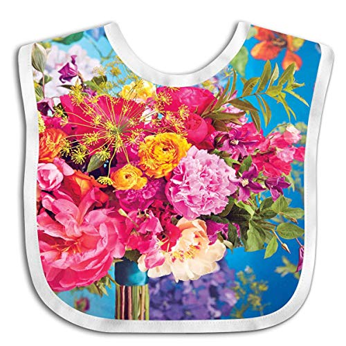Spectacular Flowers Bouquet Custom Baby Bandana Drool Bibs for Drooling and Teething for Girls Boys