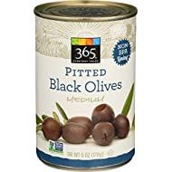 365 Everyday Value, Pitted Black Olives Medium, 6 oz