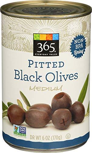 (365 Everyday Value, Pitted Black Olives Medium, 6 oz)