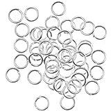 Beadaholique 50-Piece Open Jump Rings, 6mm, 18-Gauge, Silver