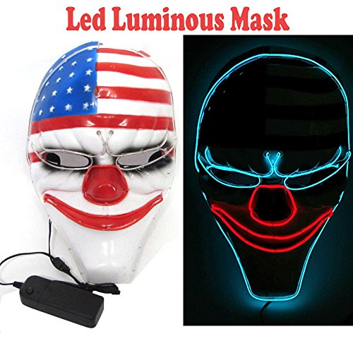 Ansee Scary Clown Mask Payday2 Masks Dallas Mask Heist Clown Mask for Costume Party Halloween ()