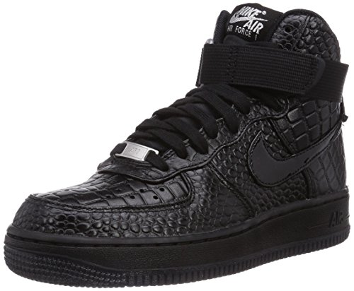 Nike Air Force 1 High Premium - Zapatillas para mujer Black/Metallic Silver