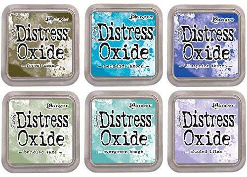 Tim Holtz Distress Oxide Ink Pads - 2018 Release - Cool Tones - 6 Item Set