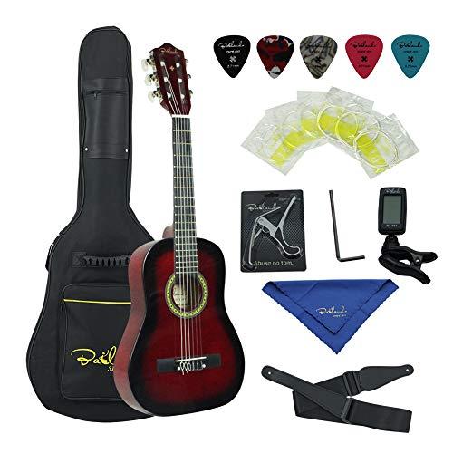 Bailando 36 Inch 3/4 Size Student Beginner Classical Nylon String Acoustic Guitar Starter Pack – Redburst