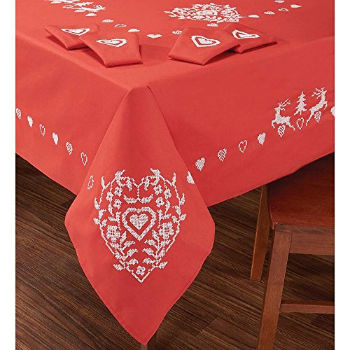 Stamped Cross Stitch Tablecloth - 2