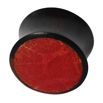 Sono madera magenta tapón de madera rojo iridiscente mano Resina embutido madera tallada tapón tribal túnel expansor 12 mm: Amazon.es: Deportes y aire libre
