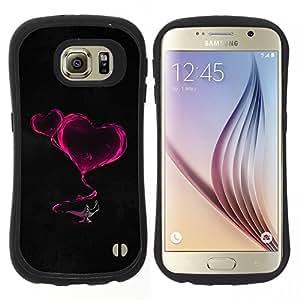 """Pulsar iFace Series Tpu silicona Carcasa Funda Case para Samsung Galaxy S6 , El humo de los corazones de neón rosada de la lámpara Magucal Fairytale"""""""