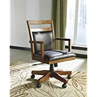 Loyink Brown Luxurious Home Office Desk Chair