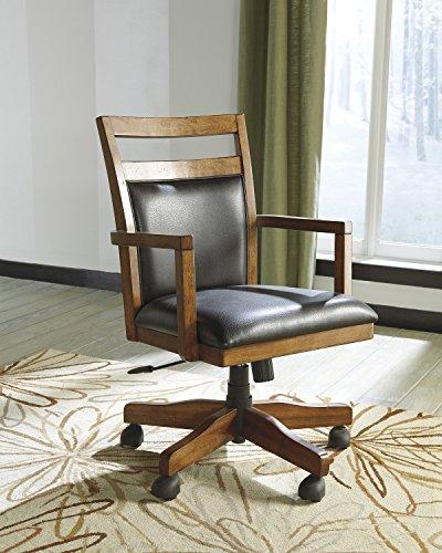 Loyink Brown Luxurious Home Office Desk Chair