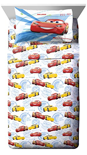 Jay Franco Cars 3 High Tech Twin 3 Piece Sheet Set, (Lightning Mcqueen Bedding)