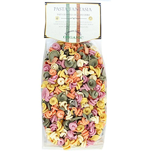 ia Organic Little Spinning Tops (Trottoloni) Colored Pasta, 17.6 Ounces, Pack of 3 (Top Pasta)