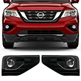Lights Fits 2017-2018 Nissan Pathfinder | OE Style LED Fog Light Lamp Kit w/ Switch & Wiring Pairs by IKON MOTORSPORTS