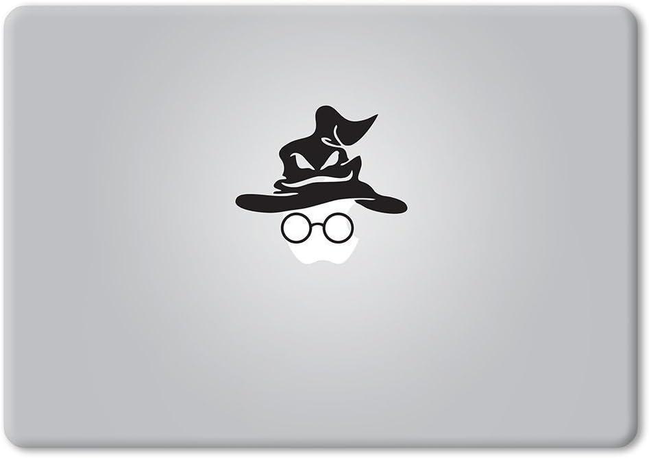 Harry Potter Sorting Hat and Glasses Macbook Vinyl Laptop Sticker-Black