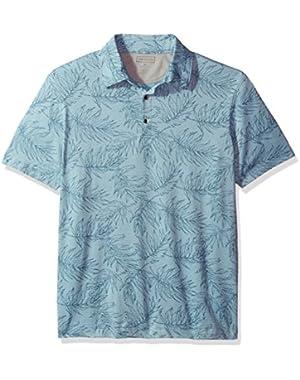 Men's Air Print Self Collar Polo